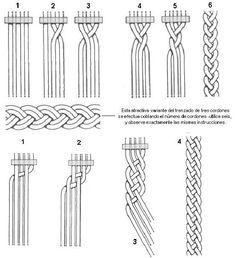 descriptions – modèles - Her Crochet Macrame Art, Macrame Projects, Micro Macrame, Macrame Necklace, Macrame Bracelets, Macrame Tutorial, Bracelet Tutorial, Bijoux Fil Aluminium, Macrame Plant Hangers