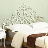 """Chintaly Imports""""Headboard in Antique Silver"""