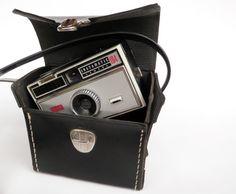 Vintage Camera Case Kodak Instamatic 1970s Black by WildPlumTree, $13.00