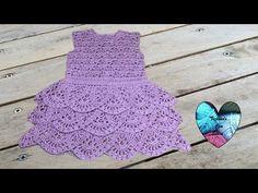 Вязание крючком, платье крючком, 1 часть-вяжем кокетку для платья. вязание круглой кокетки, очень красивый узор. Девочки, вяжем кокетку платья. Пряжа рекомен...