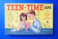 1950s game shows | 1950's TEEN TIME Board Game by fifisfinds on Etsy