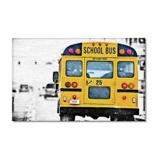 School bus - stampa digitale su tela pittorica