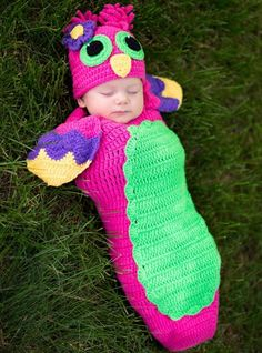 Eeeek! This is so cute Erica!  Baby Crochet Cocoon Owl Costume - Party City