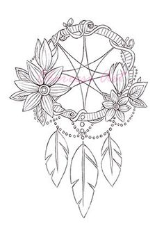 167 Best DreamCatcher Coloring Pages for Adults images in