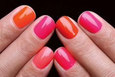 Switch up your bright colors for a fun and pretty look! Get glam nails with products from Duane Reade.