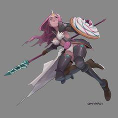 """ohnarev: """" Candy Knight Bubblegum Adventure Knights 01 """""""