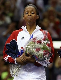 Gabby Douglas the first African-American female gymnast to win the Gold in the Olympics Women's All Around!!! #tearsofjoy