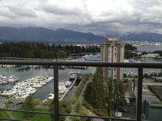 Views from bayshore drive in beautiful coal harbour. Steps to the waterfront