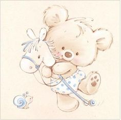 Leading Illustration & Publishing Agency based in London, New York & Marbella. Baby Painting, Fabric Painting, Cute Animal Drawings, Cute Drawings, Baby Clip Art, Tatty Teddy, Digi Stamps, Cute Illustration, Baby Cards