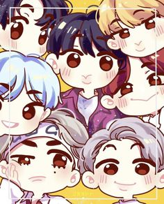 hahaha so cute love you bts Dance Music, Kpop Drawings, Pop Rock, Bts Chibi, Bts Fans, Kpop Fanart, Bts Korea, Bts Lockscreen, Cute Illustration