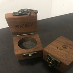 Tagrid Ruiz added a photo of their purchase Wooden Ring Box, Wooden Rings, Proposal Ring Box, Ring Holder Wedding, Ring Bearer Box, Wedding Engagement, Engagement Rings, Picture On Wood, Custom Boxes