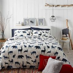 Watercolour animals duvet cover set | Simons #maisonsimons #simonsmaison #home #decor #homegoal #rusticChalet# inspiration #rusticChic #AranIslands #watercolour #bedding #bedroom