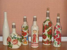 decoupage / bottle  2.jpg (700×525)