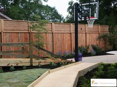 A fence and bridge for your yard.