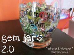 gem jars 2.0: managing behavior, chores, allowance = happy family
