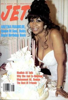 """Aretha Franklin on the cover of JET magazine, April 1992 "" Jet Magazine, Black Magazine, Soul Singers, Female Singers, Detroit Michigan, Ebony Magazine Cover, Magazine Covers, Vintage Black Glamour, Black Celebrities"