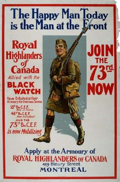 """This is your flag"""": Canadian WWI Recruiting Posters   Ottawa ..."""