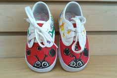 Lady bug day and night girls shoes