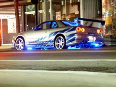 decked out street racing car