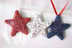red white blue by Dianne Hillesland on Etsy