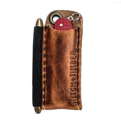 Small Pocket Knives, Best Pocket Knife, Safe Tanning, Fisher Space Pen, Leather Passport Wallet, Everyday Carry Gear, Leather Craft, Handmade Leather, Knife Sheath