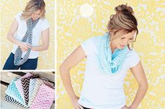 Dress Up Your Neck - Chevron Scarves, starting at only $2.99!!