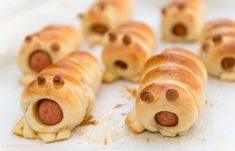 """Hotdogs disguised as adorable """"bread monsters."""" 