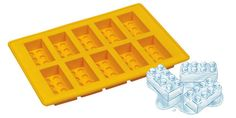 The perfect ice cubes for a kid's LEGO birthday party, made with this LEGO Ice Cube Tray. Made from food-grade silicone, you'll be pumping out LEGO ice cubes in no time. It ships in random colors, but the ice cubes are the import parts, right?