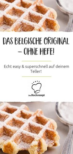 Belgische Waffeln ohne Hefe These Belgian waffles you prepare without yeast – so they are easy and super fast on your plate! We also find ingredients such as ground almonds and cream ingenious – making the waffles a dessert dream. # without yeast Brunch Recipes, Soup Recipes, Breakfast Recipes, Dessert Recipes, Pancakes From Scratch, Pancakes Easy, Dessert Simple, Dessert Nouvel An, How To Make Waffles