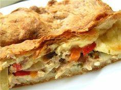 Кулинарный канал-лучшие рецепты!: Слоёный пирог с мясом и картофелем