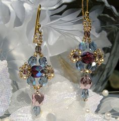 Beaded earrings - Love!!