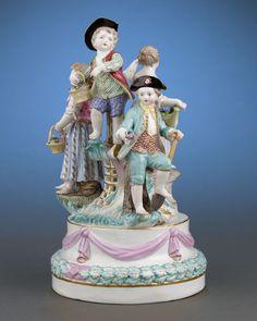 Meissen Porcelain Revelry Group