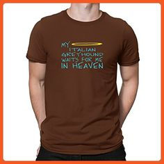 Teeburon MY Italian Greyhound WAITS FOR ME IN HEAVEN T-Shirt - Cities countries flags shirts (*Partner-Link)