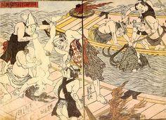 Rescue 襲われているのではありません自殺を図ったカップルが救出されるの図です 1830年 Kuniyoshi, Spring Pictures, Girl Couple, Weird Art, Gravure, Erotic Art, Japanese Art, Oriental, History