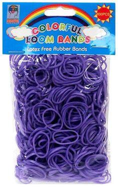 BESTSELLER! Colorful Loom Bands 600 PURPLE Rubber... $0.99