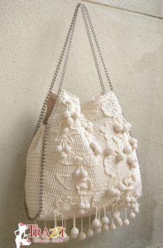 Marvelous Crochet A Shell Stitch Purse Bag Ideas. Wonderful Crochet A Shell Stitch Purse Bag Ideas. Crochet Shell Stitch, Crochet Tote, Crochet Handbags, Crochet Purses, Love Crochet, Knit Crochet, Handmade Handbags, Handmade Bags, Freeform Crochet