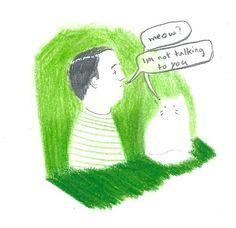 Cat dramz - allisonandcam.tumblr.com - #illustration