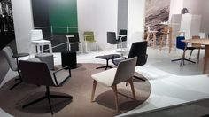 Today is our last day at the Stockholm Furniture Fair. Do you want to see the atmosphere at one of the great design fairs?  #design #furniture #2017sff #2017sdw #eneadesign #LievoreAltherr #EstudiManelMolina #contract #interiordesign #interiors #hospitality #offices