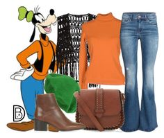 """""""1970's: Goofy"""" by leslieakay ❤ liked on Polyvore featuring Disney, H&M, Topshop, disney, disneybound and disneycharacter"""