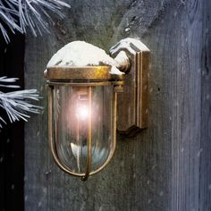 This sweet little brass outdoor light is perfect for lighting smaller spaces around your home .#Brass Clipper #Wall #Lantern   #Small #Outdoor #Light   #Exterior   #Jim #Lawrence