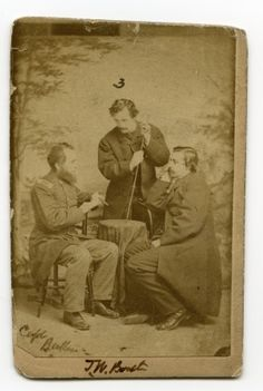 John Wilkes Booth with his brothers, Junius and Edwin. Missouri History Museum
