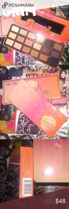🍑BNIB Too Faced Peach Palette🍑 AUTHENTIC🍑Peach Palette BNIB🍑Never Swatched or Used☺️ Too Faced Makeup Eyeshadow