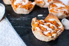 Buffalo Chicken Wonton Recipe is the perfect appetizer!