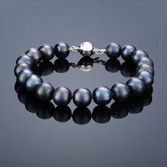 Perlový náramek Mutiara – černá