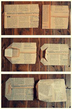 diy - gift bag from newspaper - ladies bags sale, side purse bags, red bag *spon. - Bags & Bag diy - gift bag from newspaper - ladies bags sale, side purse bags, red bag *spon. diy - gift bag from Diy Paper Bag, Paper Bag Crafts, Newspaper Crafts, Paper Gifts, Book Crafts, Newspaper Photo, Recycle Newspaper, Diy Papier, Wooden Pegs
