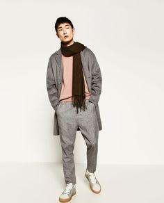 Image 1 of TWO-TONED TROUSERS from Zara