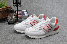 New Balance Women Casual White / Red  $109.58 Save: 76% off