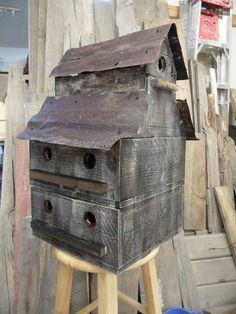 Purple martin birdhouse made to resemble an by LynxCreekDesigns, $249.99