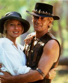 "Paul ""Crocodile Dundee"" Hogan with wife Linda Kozlowski"