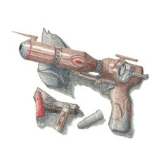 Outlaw Star...#Caster Gun! Outlaw Star, John Payne, Sci Fi Fantasy, Cyberpunk, Science Fiction, Blade, Weapons, Video Games, Cartoons
